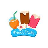 Beach Party. Vector Illustration