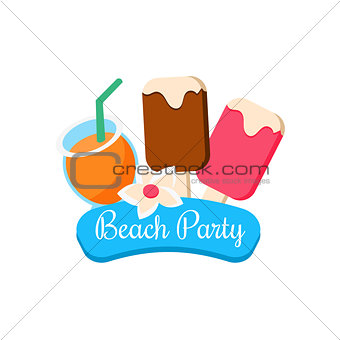 Beach Party. Vector Illustration
