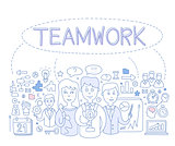 Teamwork Infographics Vector Illustration
