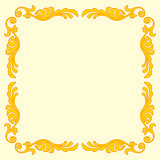 Fun colorful decoration on yellow background