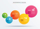 infographics circle number 5 step template. Vector illustration
