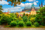 Prague landscape with Saint Vitus Cathedral