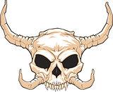 horned skull_001