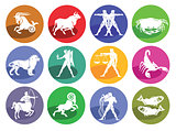 Astrology horoscope, icon set