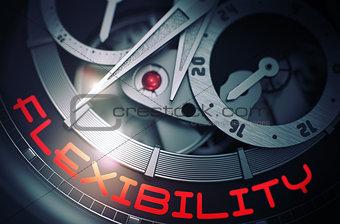 Flexibility on the Fashion Wrist Watch Mechanism. 3D.