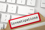 Card File with Investigations. 3d.
