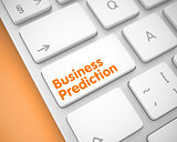 Business Prediction - Message on the White Keyboard Button. 3D.