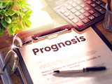 Prognosis - Text on Clipboard. 3D.