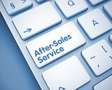 After-Sales Service - Inscription on  Keyboard Keypad. 3D.