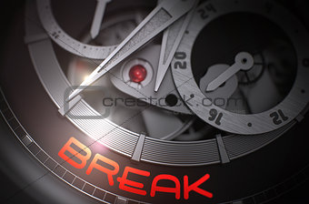 Break on the Fashion Wrist Watch Mechanism. 3D.