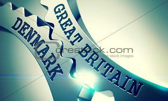 Great Britain Denmark - Mechanism of Metallic Cogwheels. 3D.