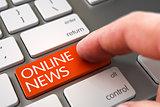 Online News - Keyboard Key Concept. 3d.
