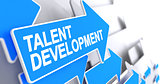 Talent Development - Message on Blue Cursor. 3D.