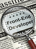 Front-End Developer Hiring Now. 3D.