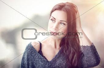 Beautiful woman in the morning