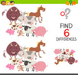 preachool finding differences game