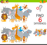 finding differences game for kids