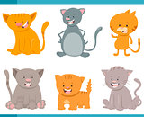 cute cat characters set