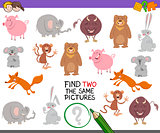 find pair of identical pictures