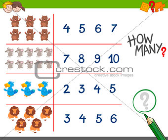counting game with animals