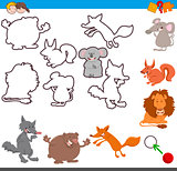 educational activity with cute animals