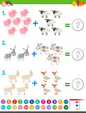 addition maths activity for children