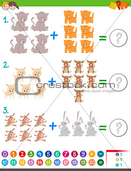 addition maths game for children
