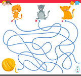 maze game with kitten characters