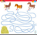 maze game with horse characters