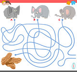 maze game with elephant characters