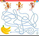 maze game with monkey characters