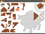jigsaw puzzle game with bull
