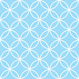 Geometric seamless pattern in pastel blue, modern minimal background