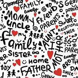 Family. seamless pattern for your design