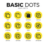 Copy flat icons vector set