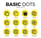 Copy flat icons vector set