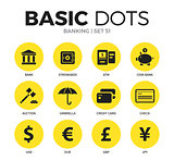 Banking flat icons vector set