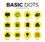 Business flat icons vector set