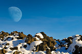 Moon over the Snow
