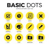 Application flat icons vector set
