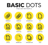 File flat icons vector set