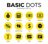 Economy flat icons vector set