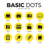 Office flat icons vector set