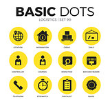 Logistics flat icons vector set
