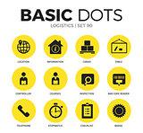 Logistics flat icons vector set
