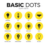 Light flat icons vector set
