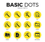 Magic flat icons vector set