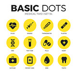 Medical two flat icons vector set