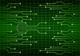 Green abstract cyber future technology concept background, circuit, binary code . Eps 10 vector illustration