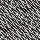 Wavy Ripple Hand Drawn Lines. Abstract Geometric Background Design. Vector Seamless Pattern.